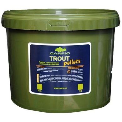 Пеллетс Carpio Trout Pellets 6мм, 3 кг