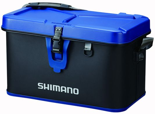 Сумка Shimano Hard Tackle Boat Bag 32L 30x52x32cm ц:black/blue